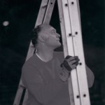 Holding the ladder